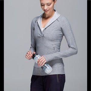 LULULEMON | Think Fast Heather Grey Pullover EUC